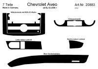 Decor interiéru Chevrolet Aveo -- od roku výroby 2/2006- (pro modely s automatickou klimatizací a RDS CD radiem) umístění palubní deska - 7 dílů