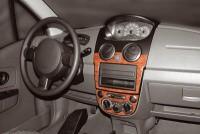 Decor interiéru Chevrolet Spark -- od roku výroby 2/2005- (pro modely s manuální klimatizací nebo bez klimatizace) umístění palubní deska - 3 díly