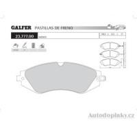 GALFER přední brzdové desky typ FDA 1045 DAEWOO LACETTI 1.8i 16V -- rok výroby 03- ( brzdový systém AKE )